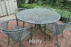 13-piece set of Russell Woodard Wrought Iron Outdoor Patio Furniture