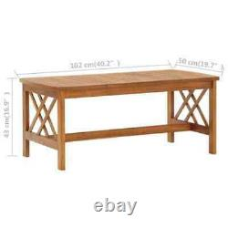 2 Piece Wooden Patio Furniture Set Garden Chair Bench and Table Outdoor Lawn Set