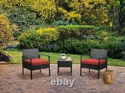 3PCS Rattan Set Furniture Set for Balcony Rattan Chairs and Table