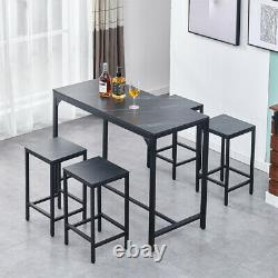 5 Piece Wood Dining Table Set with 4 Chair Breakfast Kitchen Living Room Furniture
