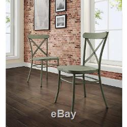 6 Piece Brown Rustic Dining Table Bench Green Chairs Set Home Living Furniture