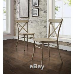 6 Piece Brown Rustic Dining Table Bench White Chairs Set Home Living Furniture