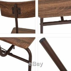 6-Piece Kitchen&Dining Room Table Chairs&Bench Set Modern Home Style