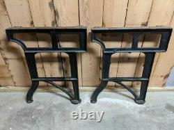 Cast Iron Table Legs SET OF FOUR 4 MATCHING Bench Vintage Workbench Industrial