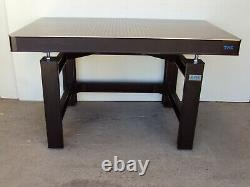 Crated 5' TMC OPTICAL TABLE WITH MICRO-G ADJUSTABLE HEIGHT RIGID BENCH SET lab
