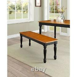 Dining Room Table Set Farmhouse Country Wood Kitchen Tables And Benches 3 Piece