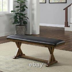 Dining Room Table Set Farmhouse Wooden Table Set Kitchen Dining Set With Bench