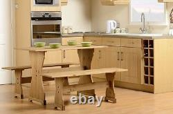 Dining Set Table And Chairs Extending White Hever Bench 2 Benches