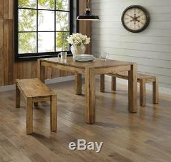 4 Rustic Farmhouse Kitchen Table Bench
