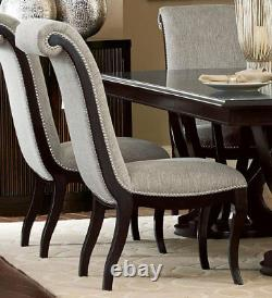 Espresso Finish 7 pieces Dining Room Kitchen Rectangular Table & Chairs Set IC5J