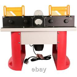 Excel Bench Top Router Table 240V with 35 Piece 1/4 Router Cutter Bit Set