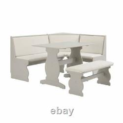 FACTORY NEW Gray Breakfast Nook Dining Set Corner Booth Bench Kitchen Table