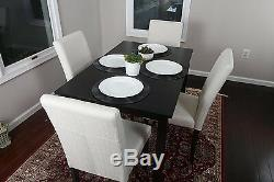 Home Life 5pc Dining Dinette Table Chairs & Bench Set Light Beige Canvas New