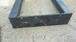 Industrial table or bench legs. 28 tall x 27 wide. Set of 2