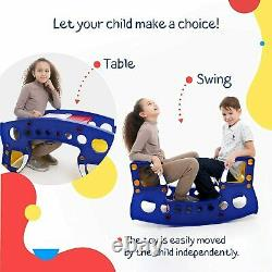 Kids Bench Table Rocking Chair Outdoor Ages 4-8 Toddler Table Chair Set Indoor