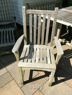 Kingsley Bate Solid Teak Outdoor Dining Set and Deck Chairs
