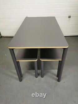 Made. Com Exdisplay Essentials Mino Dining Table & Set Of 2 Benches Grey RPR£299
