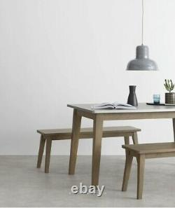 Made. Com Fawn Dining Table and Bench Set in Zinc and Mango wood