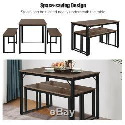 Modern 3 Piece Dining Set Studio Collection Soho Dining Table with Two Benches