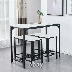 Modern 5 Piece Wood Dining Table Set with 4 Chairs Breakfast Kitchen Furniture