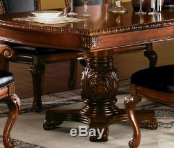 NEW Traditional Cherry Brown Finish 7 pieces Dining Room Table Chairs Set IAC9
