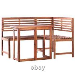 Outdoor Dining Set Bistro Set Garden Patio Folding Table Bench Chair Furniture