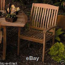 Outdoor Patio Extendable Teak Wood Dining Set 6 pc Table Bench Chair Furniture