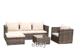 Outdoor Patio Rattan Wicker Sofa Set Sectional Couch Cushioned Garden Furniture