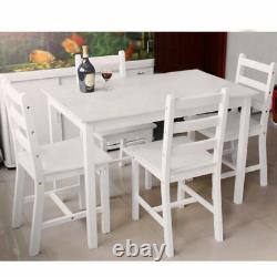 Panana Dining Wood Table and 2/4Chairs Bistro Set Kitchen in Choice of Colours