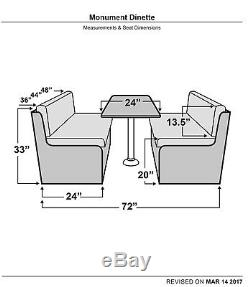 Qualitex Monument 72 RV Dinette Bench Table Booth Set Seat Bed Storage