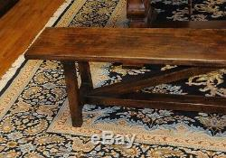 Refectory Table and Bench Set Farmhouse Kitchen Dining Norfolk Trestle