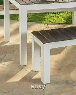 Rodanthe Outdoor Contemporary 3 Piece Acacia Wood Picnic Dining Set with Benches