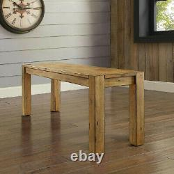 Rustic Dining Room Set 6-Piece Farmhouse Kitchen Wooden Table Chairs Bench Sets