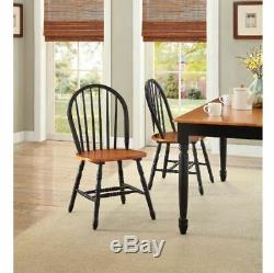 Solid Wood Dining Set Farmhouse Rustic Country Antique Large Table Chair Bench