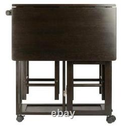 Space Saver Dining Set Table Stools Chairs Small Apartment Compact Couples Dorm