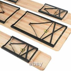 Table Bench Set Folding Trestle Outdoor Picnic Drinks Wooden Patio Garden Party