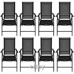 VidaXL Outdoor Dining Set WPC Outdoor Patio Table Folding Chairs 5/7/9 Piece