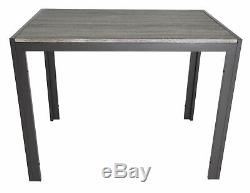 Zenvida Dining Set Table and Two Benches Modern Style, Seats 4